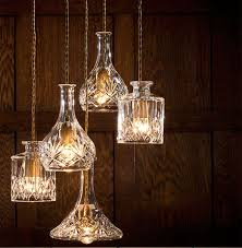 Modern Minimalist Gorgeous Retro Bottle Pendant Lights Cafe Bar Decorated  Pendant Creative Cut Glass WINE bottle Lamp ABCD STYLE-in Pendant Lights  from ...
