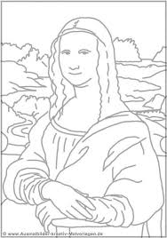 Basic And Simple Mona Lisa Coloring Pages For Toddlers Enjoy