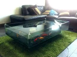 coffee table aquarium glass fish tank pool rectangular house designs ideas for coffe