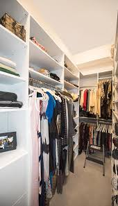 Storage ideas for long narrow walk in closet