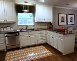 dark floors cream cabinets gray walls