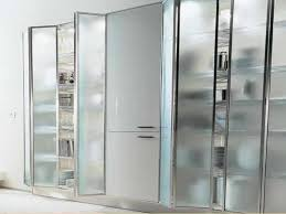 frosted glass doors aluminium frame