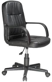 leather office chair amazon. comfort products mid-back leather office chair, black chair amazon b