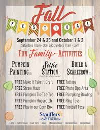Stauffers Of Kissel Hill Fall Festival Free Crafts Games Selfie