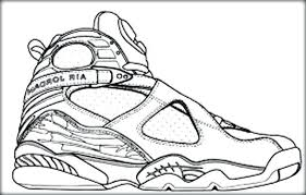 Michael Jordan Shoes Coloring Pages Basketball Shoe Free Zendoodling