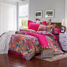 retro style bedroom decor with red bohemian bedding sets colored regarding comforter designs 18