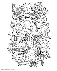 Large collection of free printable flower coloring pages. Flowers Coloring Sheets Free Printable For Adults Coloring Pages Printable Com