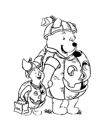 Small Picture Print Pooh And Piglet Pumpkin Costume Disney Halloween Coloring