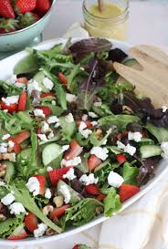 mixed green salad with strawberries. Modren Strawberries A Spring Seasonal Salad Featuring Mixed Greens Sliced Strawberries And  Goat Cheese Tossed In Mixed Green Salad With Strawberries T