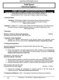 Digital Communications Resume Electrical Engineer Resume Sample Business Pinterest Resume