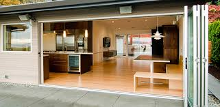 folding door system by kitchen