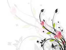 Abstract White Flowers Powerpoint Template Black Flower Branches