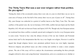 the thirty years war was a war over religion rather than politics  document image preview