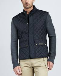 Belstaff Quilted Two-Pocket Vest in Blue for Men | Lyst & Gallery Adamdwight.com
