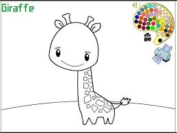 Giraffe Coloring Pages For Kids Giraffe Coloring Pages Youtube