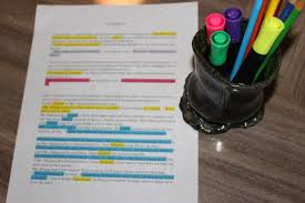 essay revision highlighters mary louise wells