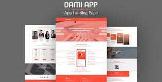 Psd Website Templates Magnificent Dami App Landing PSD Page Template By FPLthemes ThemeForest