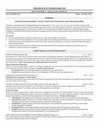 Hr Recruiter Resume Format Lovely Staffing Specialist Resume Sample