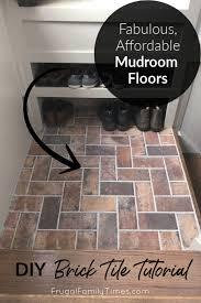 mudroom flooring diy brick tile floor