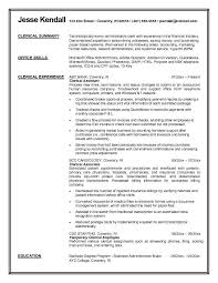 Clerical Resume Templates Fascinating Clerical Resume Template Administrative Sample All