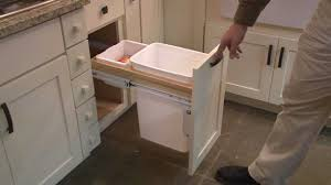 Kitchen Cabinet Pull Out Wastebasket By Cliqstudioscom Youtube