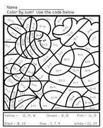 Math Coloring Sheets For Spring Addition And Subtraction To 20