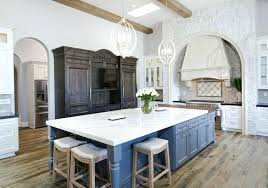 rustic white country kitchen. White Rustic Kitchen Beautiful Country With Cabinets Hardwood Floors Gray Island And Marble Round Table R