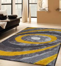 Handmade Gray & Yellow 3 Dimensional Shag Area Rug with Hand Carved Design