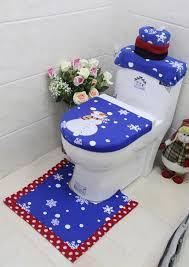 santa toilet seat cover rug bathroom set zoom