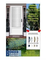 jalousie storm doors