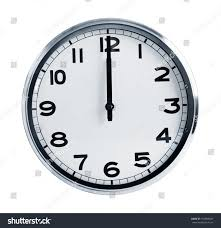 office clock wall. Wall Office Clock Showing At Noon On A White Background -