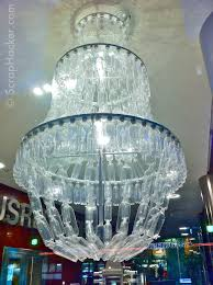 genius in bottle the amazing plastic chandelier wonderful crystals