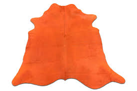 dyed orange cowhide rugs size 7 x 7 ft dyed orange cowhide rugs