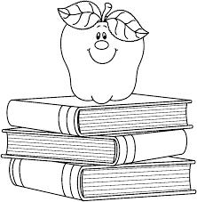apple clip art black and white. black and white school clipart apple clip art