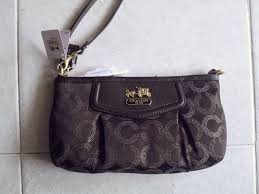 coach madison dotted op art large wristlet