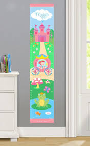 Personalized Princess Growth Chart Girls Personalized Princess Wall Decal Growth Chart Girls
