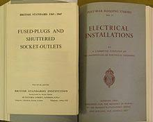 ac power plugs and sockets british and related types bs 1363 1947 fused plugs and shuttered socket outlets which resulted from the report post war building studies no 11 electrical installations