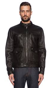 solid leather racer jacket true religion