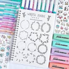 Twelve easy flower doodles you need to know. Easy Flower Doodles For A Bullet Journal With Tutorials Anjahome