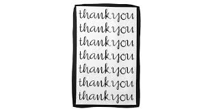 Thank You Cursive Font Thank You Cursive Black Tea Towel Zazzle Com