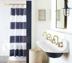 lake house shower curtains rugby shower curtain navy white lake cabin shower curtains