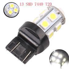 W21 5w Brake Light Us 12 84 10 X T20 7443 W21 5w Brake Light Bulbs 13 Led 5050 Smd 7440 Dual Intensity Tower Tail Stop Signal Reversing Lamp White On Aliexpress Com