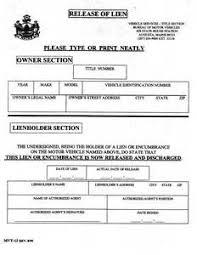 car lien release new jerseyCar Lien Release Form Motor Vehicle  Sample Resume Cover Letter