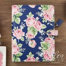 Websters Pages Color Crush A5 Planner Kit Navy Floral Doodlebugs