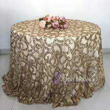 custom inch round rose gold table cloth sequin tablecloth 108 66 x