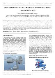 Design And Optimization Of Energy Systems By Prof C Balaji Design Optimization Experiments On Flywheel Using