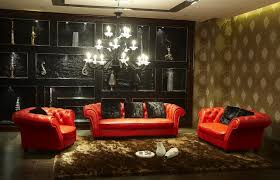 luxury red leather living room furniture beautiful red living room with luxurious interior