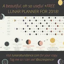 Lunar Abundance Planner Moon Chart 2018 Lunar Abundance By