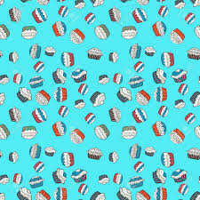Sweets Background Design Pale Blue White And Gray Seamless