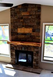 good looking design home fireplace stone brown solid wood shape home